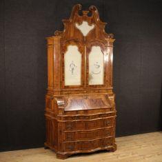 Mobile credenza scrittoio in legno stile antico
