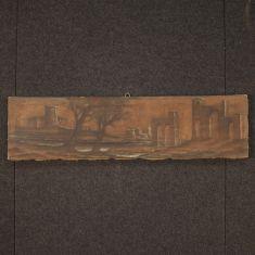 Quadro olio su tela stile antico 900