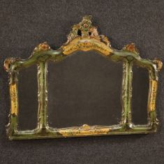 Specchio mobile in legno stile antico 900