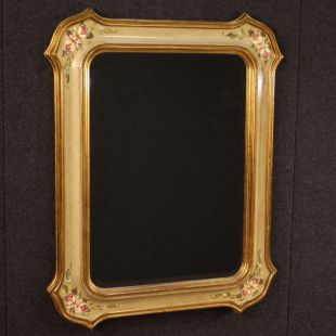 Italian lacquered, gilded and painted mirror