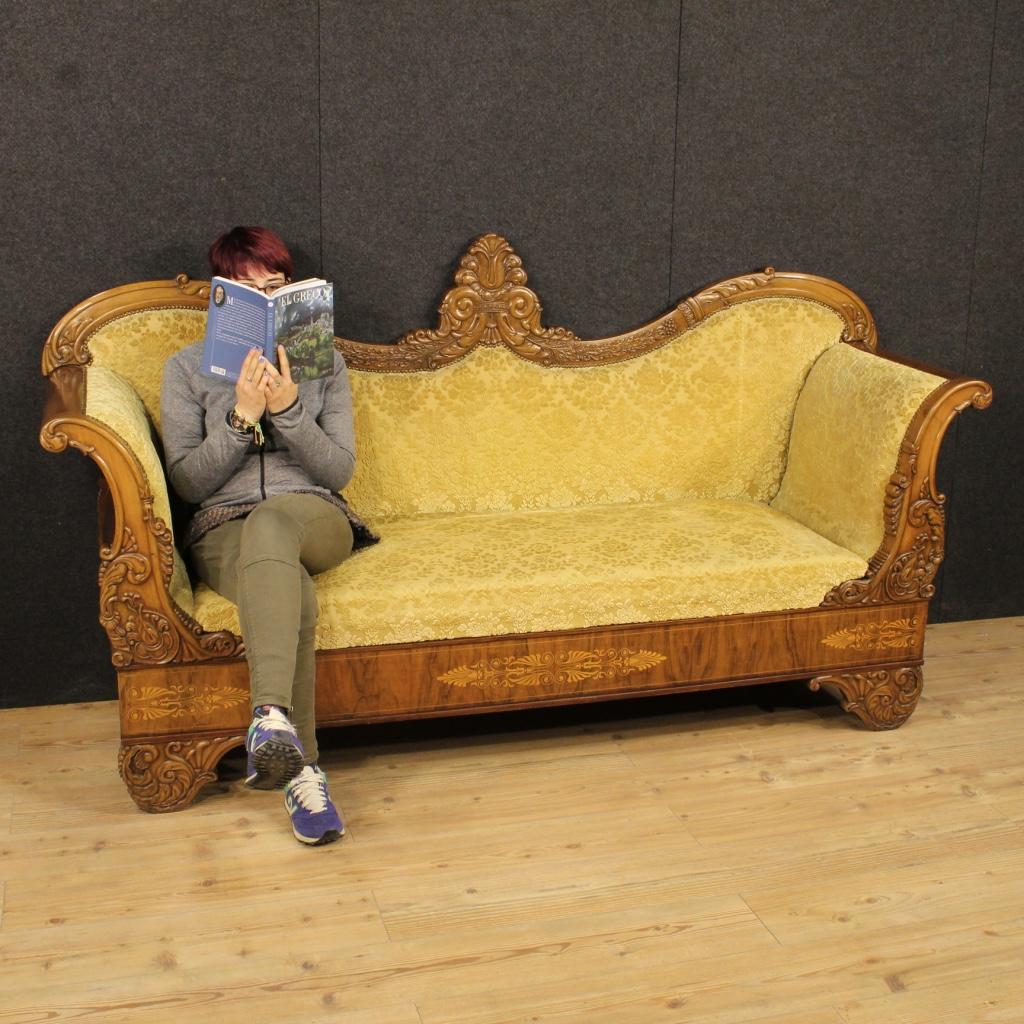 Annuncio antico divano francese sofa intarsiato in noce for Divano in francese