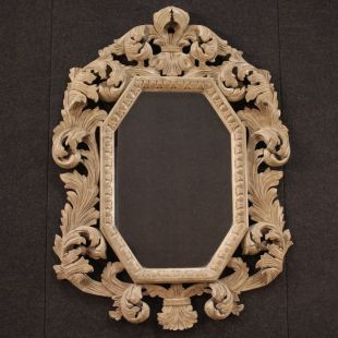 Italian mirror in painted wood