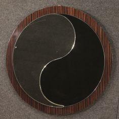 Specchio rotondo mobile cornice moderna 900