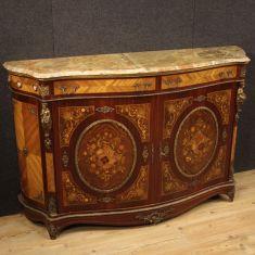 Mobile comò in legno stile antico con piano in marmo