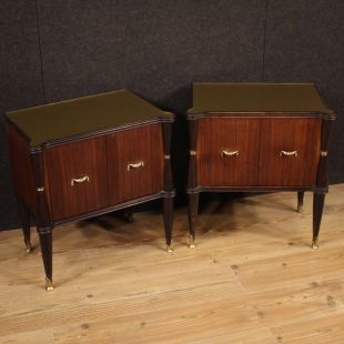 Pair of Italian design bedside tables