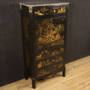 French lacquered chinoiserie secrétaire