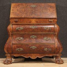 Mobile scrittoio in legno secrétaire stile antico 900