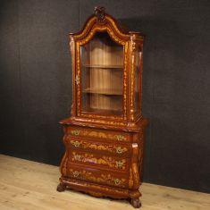 Mobile espositore libreria credenza in legno stile antico 900