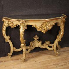 Mobile tavolo salotto piano specchio stile antico 900