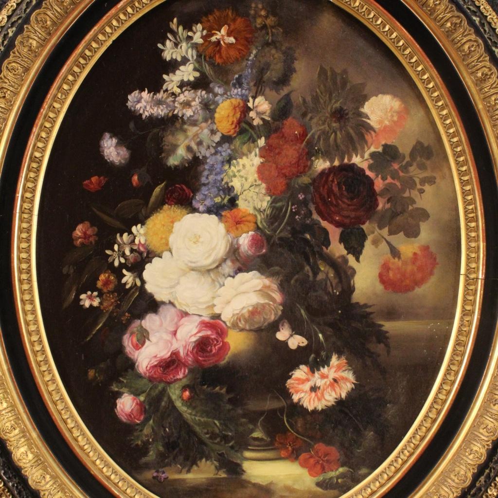 Natura morta coppia di quadri ad olio su tavola dipinti for Quadri fiori olio