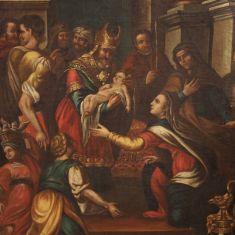 Quadro olio su tela antico epoca 1700