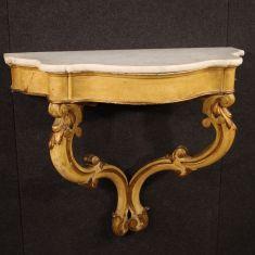 Consolle tavolo tavolino mobile in legno stile antico 900