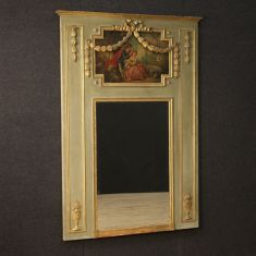 Dipinto quadro trumeau romantico stile antico 800