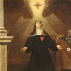 Antico dipinto italiano quadro religioso olio su tela arte sacra epoca 700