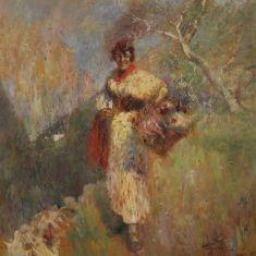 Quadro italiano in stile impressionista paesaggio epoca 900