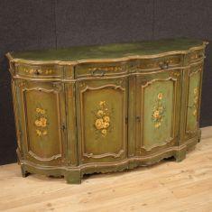 Mobile italiano in legno laccato dipinto epoca 900