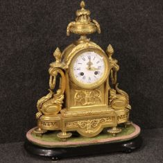 Mobile antico oggetto dorato pendola da tavolo stile antico epoca 800