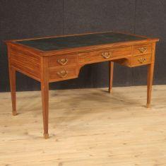 Mobile scrittoio tavolo in legno stile antico 900