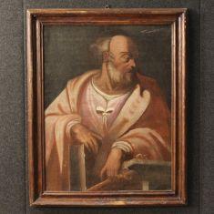 Quadro olio su tela con soggetto religioso epoca '900