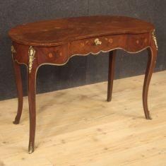 Mobile scrivania in legno stile antico con bronzi 900